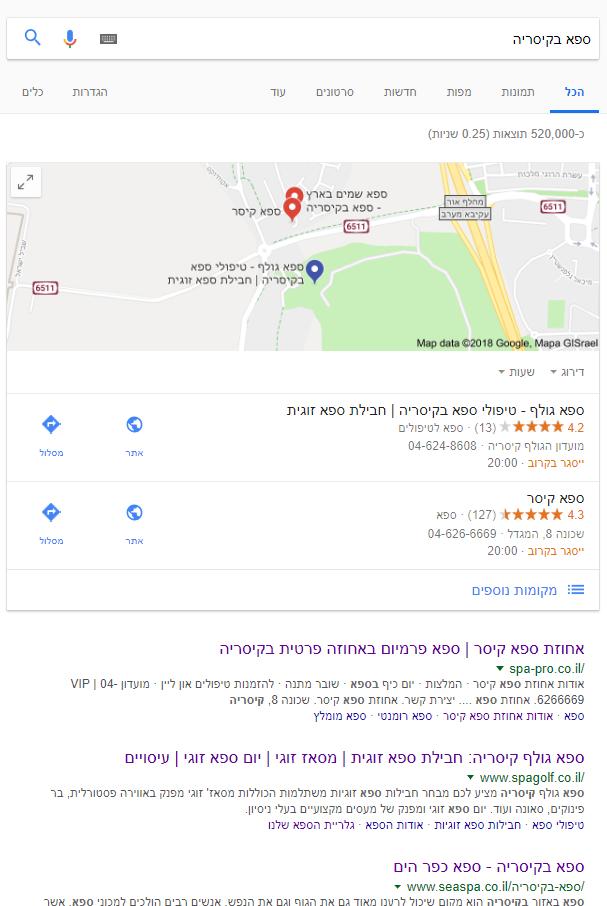 קידום אתרים לוקאלי במפות גוגל